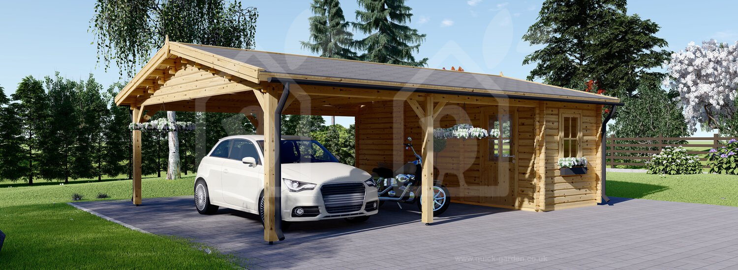 Carport Double With Shed 20x25 Wood Free Delivery Us