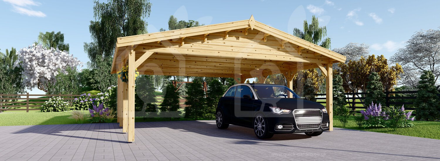 Carport Wooden 20x20 Us Free Shipping