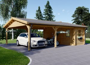 Double Carport + Shed 20 x 25