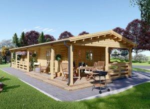 Log cabin TOSCANA 20' x 46'
