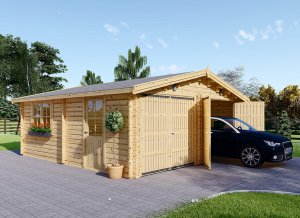 Wooden garage Double 23 x 23