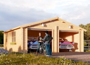 Wooden garage Double 23 x 23