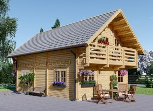 Log cabin LANGON 19' x 28'