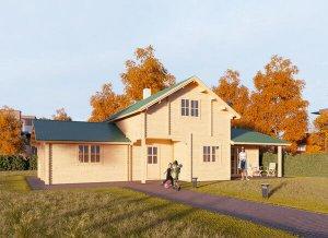 Log cabin HOLLAND 25' x 45'