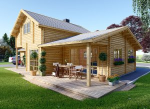 Log cabin HOLLAND 25' x 45'