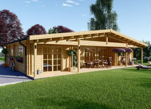 Log cabin NANTES 43' x 30'