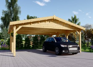 Wooden Carport Classic Double 20 x 20