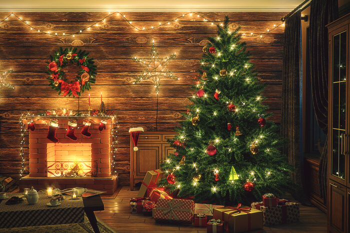 Christmas decorating tips for log cabins