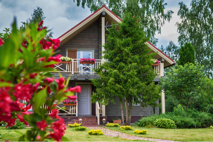 Holiday in a log cabin